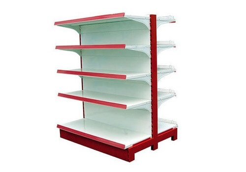 Double Sided Departmental Store Rack